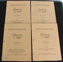 (4) 1950 Railroad Locomotive Books
