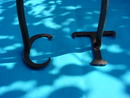 Early Wooden Handle Initialed Branding Iron
