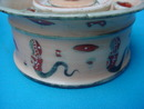 Early Porcelain Mythological Design Ink Well