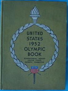 1952 United States Olympic Book