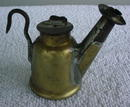 Early J. Anton & Son Miners Oil Lamp