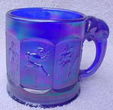 Imperial Blue Iridescent Child's Circus Mug