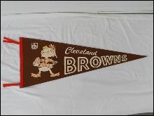 1960's Cleveland Browns Brownie the Elf Football Felt Pennant