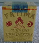 40's Unopened/Sealed Pack of Fatima Turkish Cigarettes