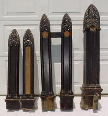 5 Pc. Ornate & Gothic Bannister Set from Victorian Home