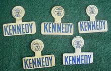 (5) Identical Kennedy Political Badges