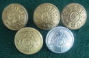 (5) Early Railroad Conductor Buttons