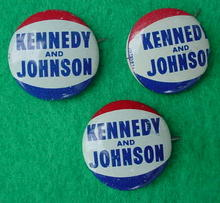 (3) Kennedy & Johnson Presidential Campaign Pinbacks