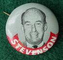 Stevenson Political Portrait Pinback