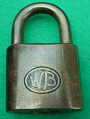 Old WB Brass Padlock