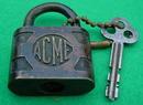 Old Acme Padlock w/Key