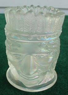 Indian Chief Glass Toothpick