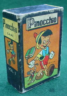 1950's Pinocchio Card Game