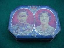 1937 King George & Queen Elizabeth Tin