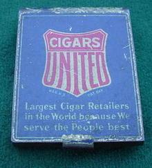 United Cigars Adver. Match Safe