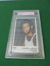 1972 Icee Bear Kareem Abdul Jabbar Basketball Card Milwaukee Bucks PSA 8