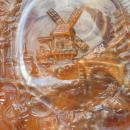 Imperial Caramel Slag Glass Windmill Plate