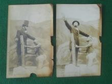 Old Real Photo Postcards Abe Lincoln Look a Like Free Slave? Slavery