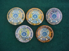 30's Los Angeles Truck Drivers Union Pins