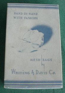Whiting & Davis Mesh Bag Purse w/Org. Box