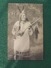 Eagle Man Sioux Chief J.A. Anderson 1900 Photo Postcard