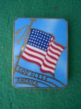 48 Star Flag God Bless America Woman's Compact