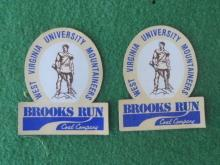West Virginia Brooks Run Coal Mining Stickers