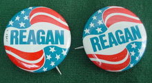 Pr. of Reagan Presidential Pinbacks