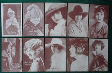 10 Old Movie/Film Actress Postcards