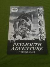 Plymouth Adventure Exhibitor's Campaign Book Spencer Tracy Gene Tierney