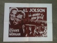 Al Jolson Madge Evans Frank Morgan The Heart of New York Movie Poster