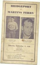 1938 High School Football Program Bridgeport v. Martins Ferry
