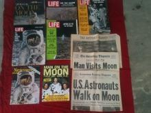 1960's Collection Apollo Man on the Moon NASA Space Magazines & Newspapers