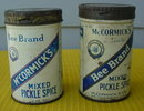 Pr. of McCormick's Mixed Pickle Spice Tins