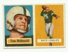 Tommy McDonald ROOKIE Card Philadelphia Eagles