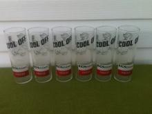 Set of 6 Richardson Freeze Polar Bear Tall Glasses