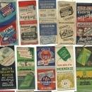 Old Gum Bubble Chewing Gum Matchbook Cover Collection