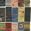 Old Men's Clothing, Shoes, Hats Fashion Matchbook Cover Collection