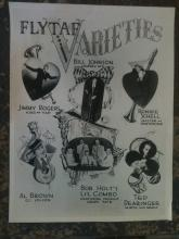 1950's FLYTAF Air Force Varieties Poster Ronnie Schell Grady Tate & Others