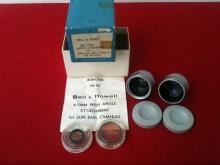 Bell & Howell Wide Angle Lenses for 8mm Sun Dial Camera w/Org. Box?