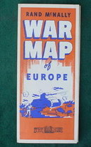 WWII Rand McNally War Map of Europe