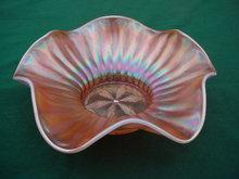 Dugan Stippled Flower Carnival Bowl