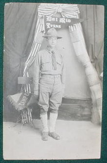 Real Photo PC WWI Solider Del Rio, TX