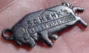 Schenk's Appetizing Foods Adver. Necklace Charm