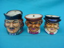 Set of 3 Handled Toby Mugs