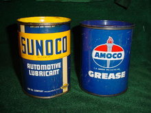 Sunoco & Amoco Early Grease Tins