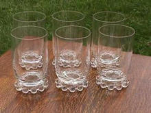 Set of 6 Imperial Candlewick 10 oz. Tumblers