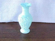 Light blue Imperial Loganberry vase