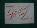 Early 1900's Sterling Electric Co. Telephone & Equip. Catalog
