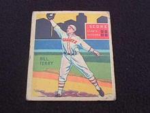 1935 DIAMOND STARS HOF BILL TERRY NY GIANTS